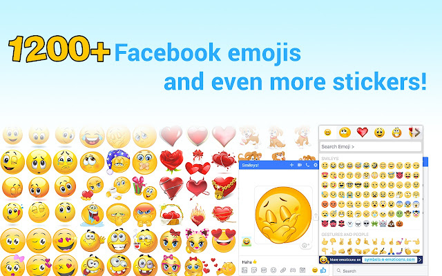Smileys For Facebook Emojis New Stickers Chrome Web Store