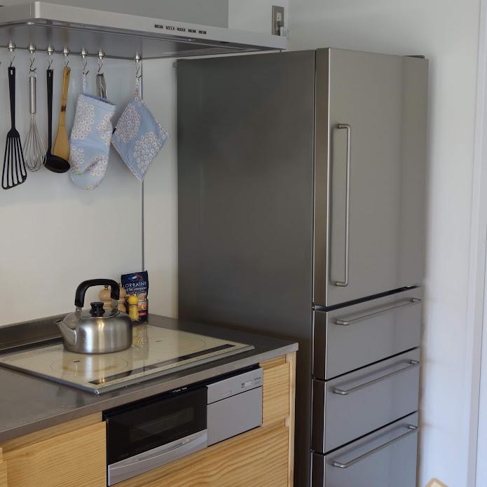 無印良品 ステンレス冷蔵庫 インテリア