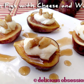 Fresh Figs with Cheese and Walnuts Recipe