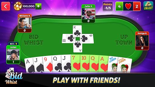 Bid Whist Free – Classic Whist 2 Player Card Game 11.0 screenshots 1