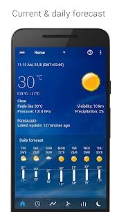 Transparent clock weather Premium 2