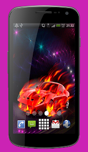 Car on Fire Live Wallpaper Theme - náhled