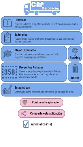 Examen CAP Mercancu00edas Espau00f1a DGT 4.5.2 screenshots 1