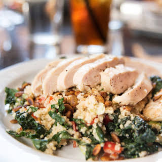 Chicken Breasts with Quinoa & Kale.