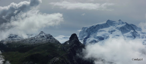 Photo: Gornergrat and Monte Rosa range