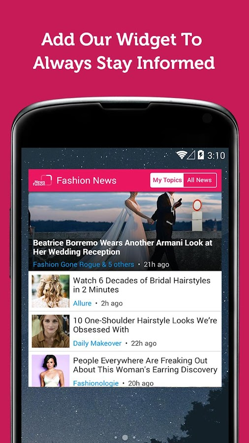 Fashion Magazine - Newsfusion- screenshot