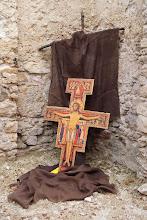 """Photo: Sandamiánsky kríž, z ktorého Pán Ježiš oslovil Františka: """"František choď a oprav môj dom!"""""""