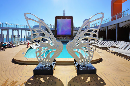 celebrity-edge-resort-deck-1.jpg - The Resort Deck on deck 14 transforms into a pool area with the vibe of a Miami Beach hotel.