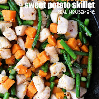 Chicken, Asparagus, and Sweet Potato Skillet.