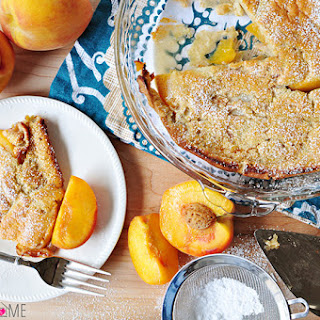 Peach German Pancake