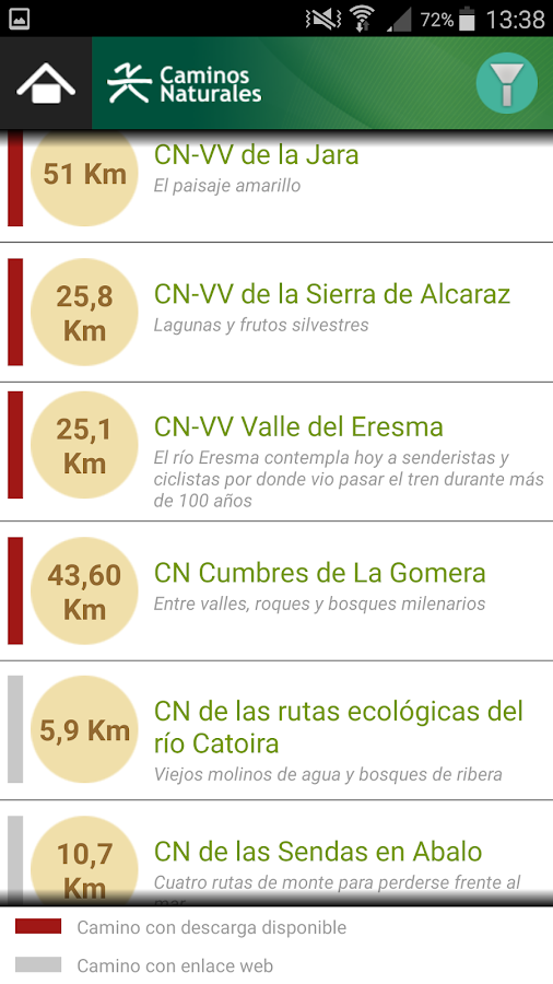 Caminos Naturales- screenshot
