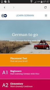 DW Learn German - A1, A2, B1 and placement test- screenshot thumbnail