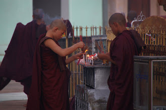 Photo: Year 2 Day 56 - Monks Lighting Incense