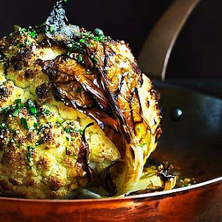 Whole Roasted Cauliflower With Lemon And Mustard