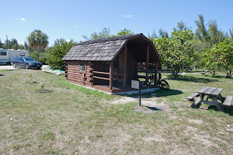 Photo: 14 of these cabins are the only camping at the park