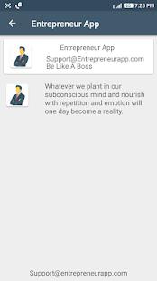 Entrepreneur App - náhled
