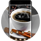 Coffee theme table grains saucer cup wallpaper icon