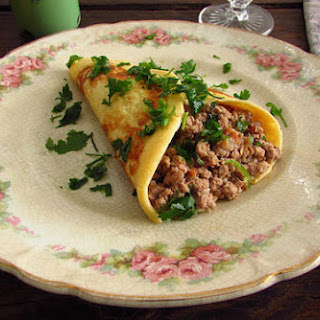 Crepes Filled with Meat Recipe