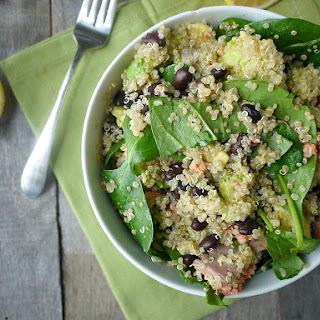Salmon & Spinach Quinoa Salad.