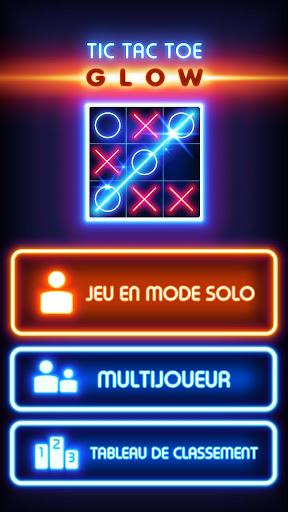 Glow Tic Tac Toe  captures d'u00e9cran 1