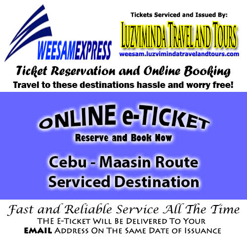 Weesam Express Cebu-Maasin Route Ticket Reservation and Online Booking