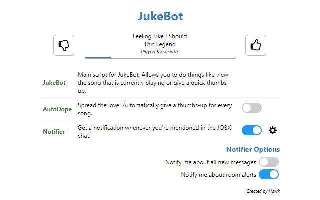 JukeBot - The #1 JQBX helper!