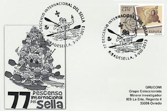 Photo: Tarjeta del matasellos del 77 Descenso Internacional del Sella, Piraguas 2013