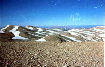 Photo: View from Lebanon's highest peak 3,083 meters, 9 June 1985.