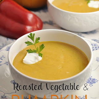 Roasted Vegetable and Pumpkin Soup