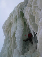 Photo: Serious ice conditions on Haugsfossen in Rjukan, Norway