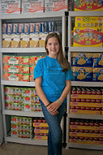 Photo: Kylee in the kare kits storage area October 3, 2013.