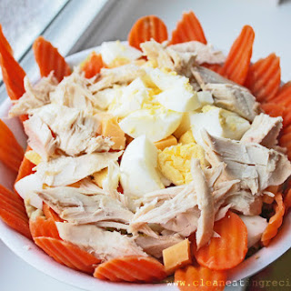 Clean Eating Idea – Carrot-Topped and Protein-Filled Dinner Salad.