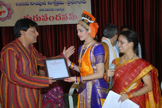 Photo: Lakshmi Sravya completed Certificate Course. Receiving the same from Sri Sethuram