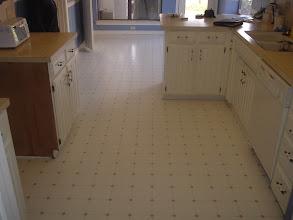 Photo: finished vinyl job kitchen dinning room.