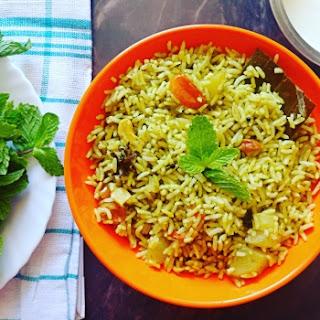 Pudina Rice (mint Rice).