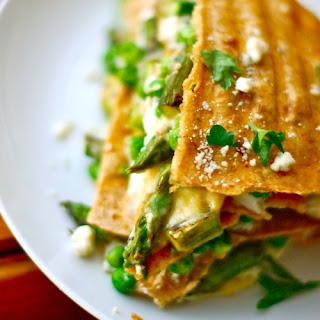 Asparagus Quesadilla Lasagna.