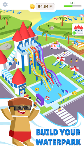 Idle Waterpark 3D Fun Aquapark 1.3 Mod screenshots 1