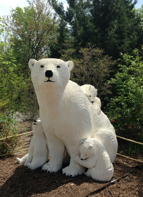 LEGO Polar Bear family, a peek at the upcoming LEGO displays at the Louisville Zoo in Louisville, KY