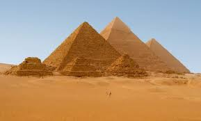 Image result for how pyramids were built