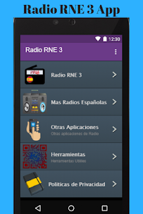 Radio RNE 3 App - náhled
