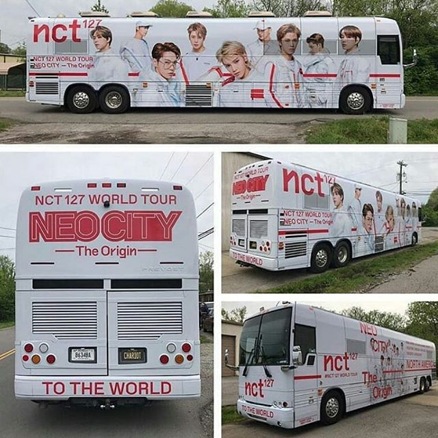 nct 127 tour bus
