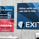 Matterhorn exit to Italy in Zermatt, Valais, Switzerland