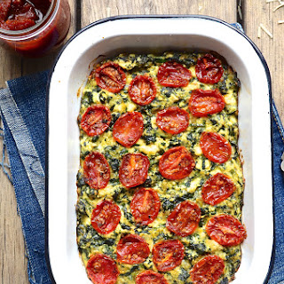 Zucchini Ricotta Slice with Candied Tomatoes Recipe