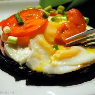 Portobello Mushroom and Fried Egg Sandwiches