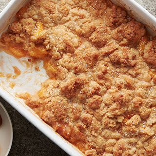 Brown Butter Sugar Cookie Peach Cobbler.