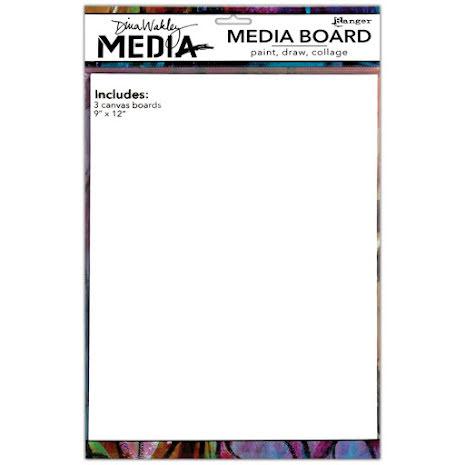 Dina Wakley Media Board 9X12 - 3 Panels