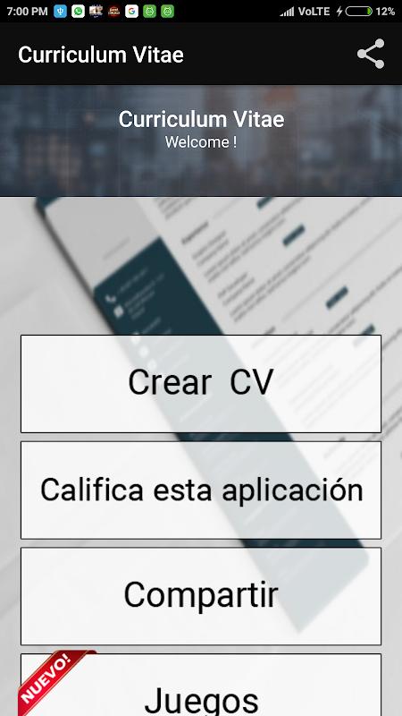 Curriculum Vitae App Cv Builder Free Resume Maker Apk 3 3 Download