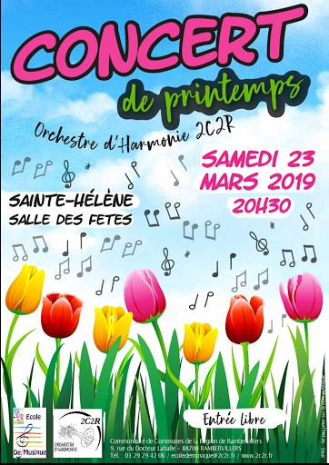 Concert de printemps orchestre d'harmonie 2c2r