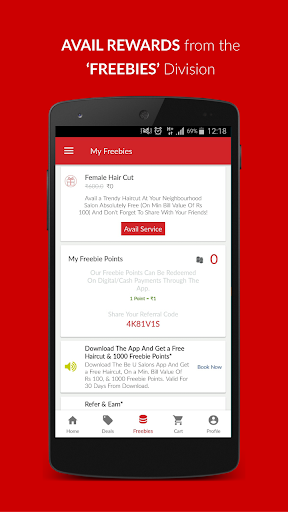 Be U Salons Hair-Beauty Deals In Delhi & Bangalore 1.1.4.1 screenshots 7