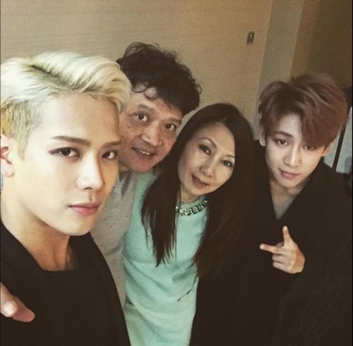 GOT7 Jackson, BamBam and Wang family